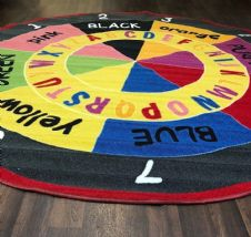 NUMBERS ABC CHILDREN 200X200CM CIRCLE RUGS MATS HOME SCHOOL EDUCATION TEACHING